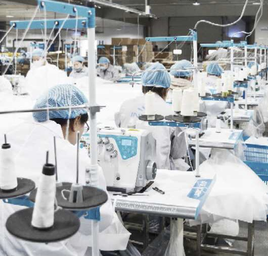 マスク製造工場画像